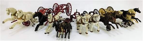 6PC Antique Cast Iron Horse Carriage Attachments