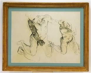 John Singer Sargent Pagan Gods Charcoal Drawing