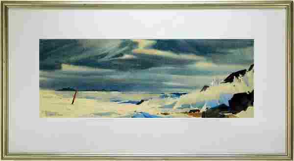 Laurence Sisson New England Shore WC Painting