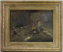 O. Louis Guglielmi Social Surrealist O/C Painting
