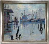 Louis Krupp Impressionist Seascape Painting