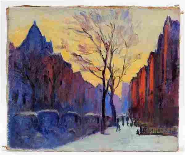 Arthur Clifton Goodwin Illuminated Boston Painting