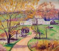 Joseph Butera New England Farm Landscape Painting