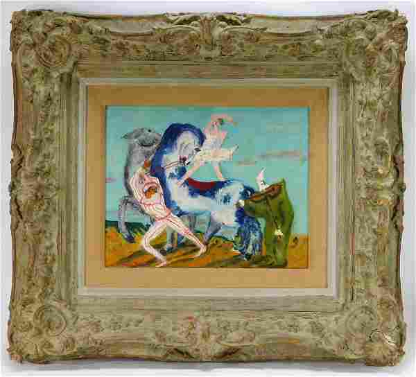 French Modern Surrealist Painting Aft. Jean Botton