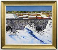Roger Pontbriand Winter Landscape Painting