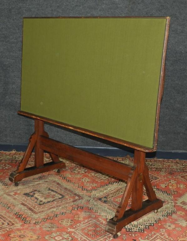 19C Willard Victorian Oak Drafting Table