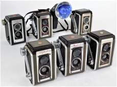 Group of 6 Kodak Duaflex Cameras