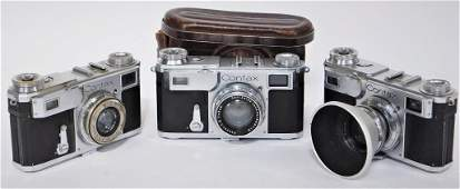 Group of 3 Zeiss Ikon Contax II 543/24 Cameras #1