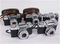 Group of 5 Zeiss Ikon Contaflex 35mm SLR Cameras