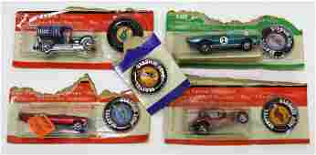 5PC 1969 Mattel Hot Wheels Redline MOSC Cut Cards