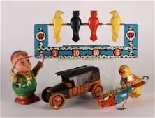5 American Tin J Chein Lindstrom Wyandotte Toys