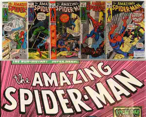 5 Marvel Comics Amazing Spider-Man 92-98 CBCS Lot