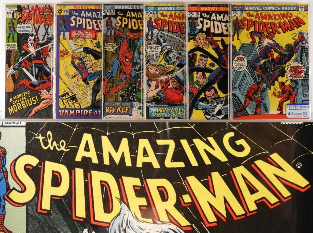 6 Marvel Comics Amazing Spider-Man #101-#156 CBCS