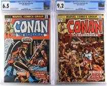 Marvel Conan the Barbarian #23 #24 CGC 6.5 9.4