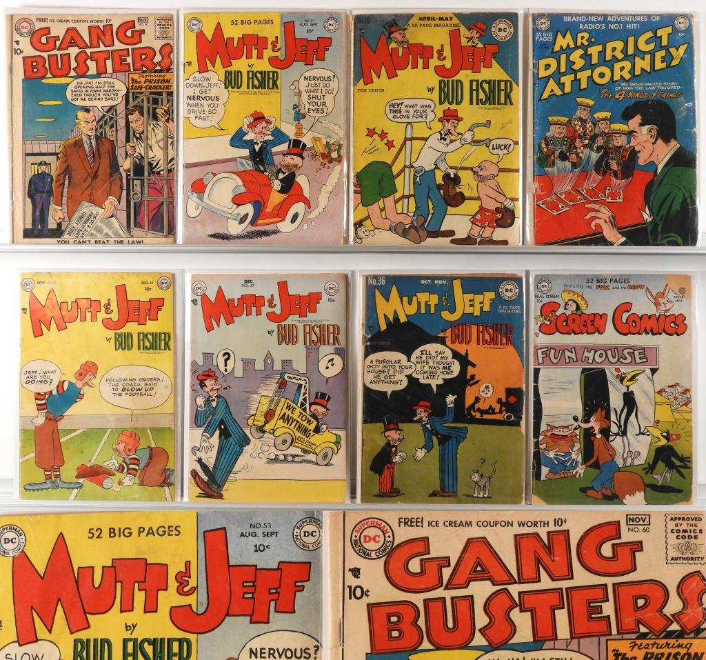 8 DC Comics Golden Age Mutt Jeff Gang Busters Lot