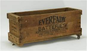 Eveready Batteries Advertisement Auto Display Box