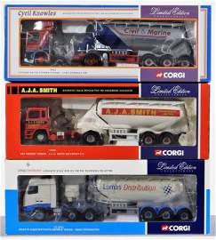 3PC Corgi Limited Ed. Diecast Tanker Truck Group