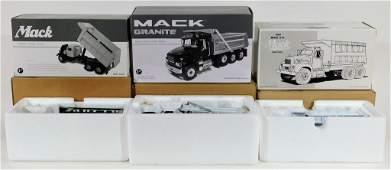 3 First Gear 1:34 Scale Diecast Dump Truck Models