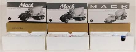 3 First Gear Mack Cement Mixer Diecast Truck Group