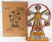 J. Chein & Co. Mechanical Ferris Wheel Tin Toy