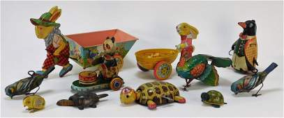 11 J Chein Lehmann Bloomer Schuller Tin Toy Group