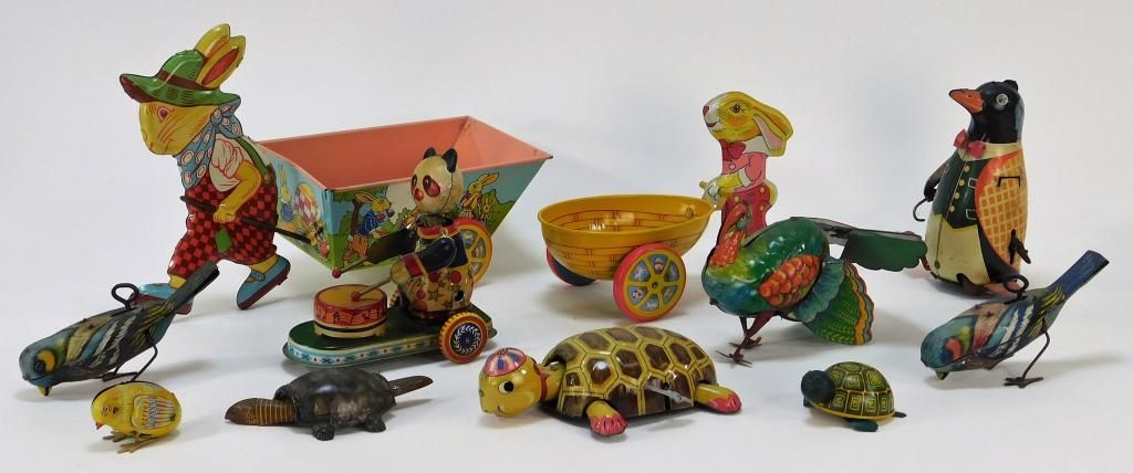 11 J. Chein Lehmann Bloomer Schuller Tin Toy Group