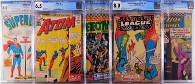 5PC DC Comics Silver Age CGC Comic Group