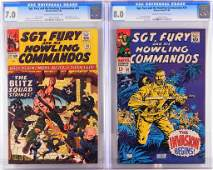 2PC Marvel Comics Sgt. Fury #20 #50 CGC 7.0 8.0
