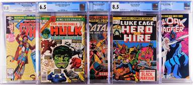 5PC Marvel Comics Bronze Age CGC Group