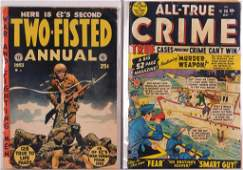 2PC Atlas E.C. Comics Golden Age Crime War Group