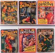 Golden Age Dime Popular Thrilling Detective Pulps