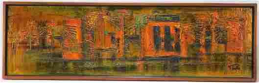 LARGE Van Hoople Modernist City Texture Painting