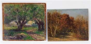 2PC Massachusetts Impressionist Landscape Painting
