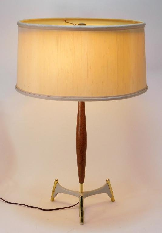 C.1960 MCM Modern Space Age Saucer Table Lamp