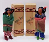PR Antique Native American Minnetonka Indian Dolls
