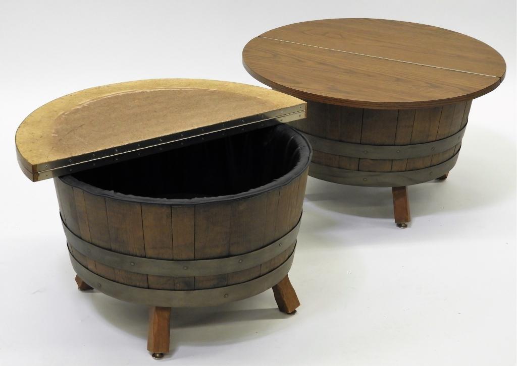 PR Schubert Industries MCM Barrel End Tables
