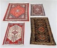 4PC Estate Oriental Persian Caucasian Carpet Group