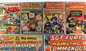 4PC Marvel Comics Sgt. Fury X-Men DC Sgt. Rock Lot