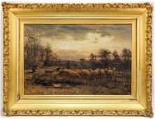 William Phelps Impressionist Shepherd Painting