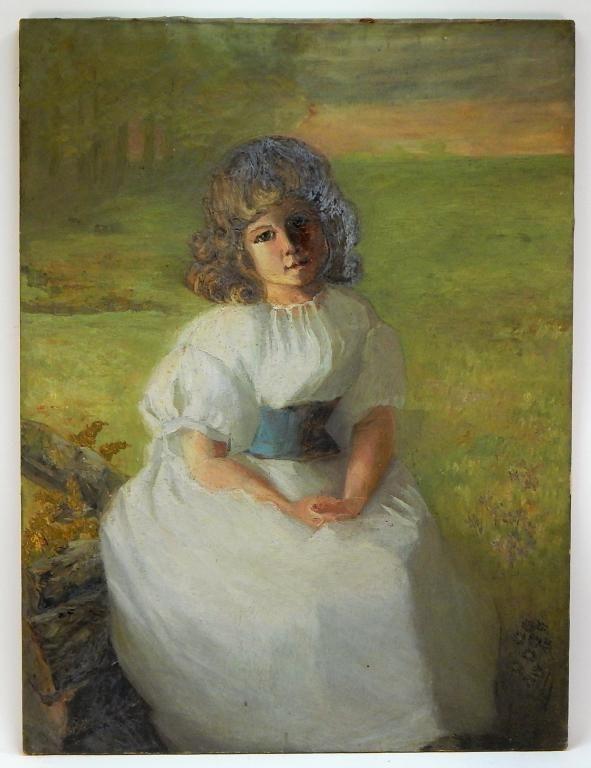 FINE Boston School Impressionist Portrait Painting