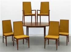 Dillingham MCM Modern Walnut Dining Room Set