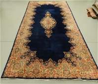 Large Kerman Navy Blue Persian Oriental Rug Carpet