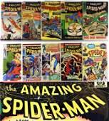 10 Marvel Comics Amazing Spider-Man #17-#259 Group