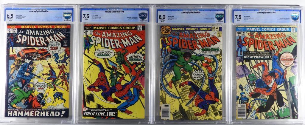 4 Marvel Amazing Spider-Man #114-#161 CBCS Group