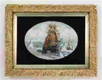 William Bradford Arctic Maritime Gouache Painting