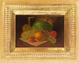 George W. Whitaker Fruit Still Life Painting