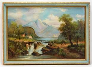 19th Century American School Landscape Painting