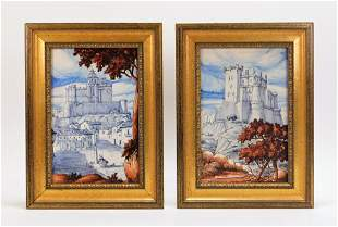 PR Rafael Ruiz de Luna Spanish Castle Painted Tile