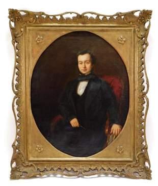 English School Portrait of a Gentleman Painting