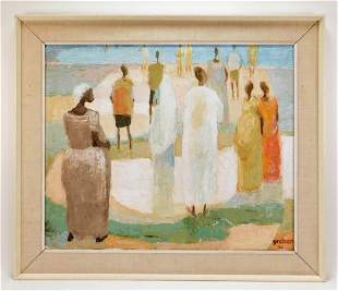 French Modernist Synthetist Beach Painting